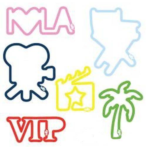 "Buy Los Angeles Hollywood Sillybandz pack Crazy Bands Palm Tree, ""VIP,"" Director's Chair, ""I♥LA,"" Film Clapperboard, and a Video Camera, I love LA"