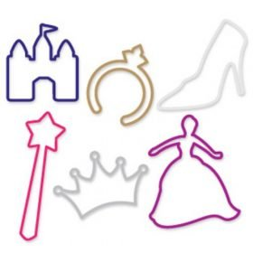 Buy Fairytale Disneyy Princess Sillybandz Sillybands Princess, Diamond Ring, Glass Slipper, Castle, Magic Wand, and Tiara Silicone Bracelets Crazy Bands