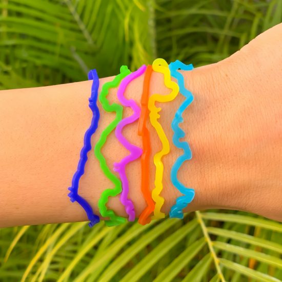 Rainforest Sillybandz Sillybands Geckos, Tree Frogs,Panthers, Gorillas, Toucans,and Monkeys Silicone Bracelets Crazy Bands