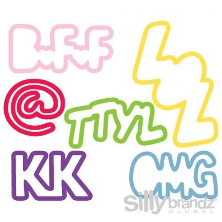 Chat Pack Sillybandz Silly Bands Silicone Bracelets Logo