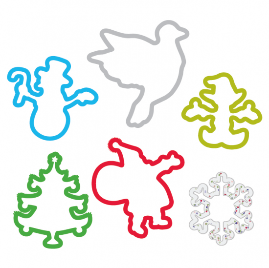 Holiday 2 Pack Sillybandz Silly Bands Silicone Bracelets