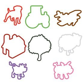 Farmville Farm Animal Sillybandz Sillybands Pack Tractor Barn Herding Dog Crop Duster Tree Lamb Sheep Cow Pig Silicone Bracelets Crazy Bands
