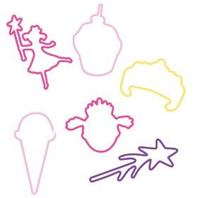 Buy Pinkalicious Sillybandz Silly Bands Pinkalicous herself, Cupcakes, Ice Cream Cones, Magical Wands, Crowns Silicone Bracelets